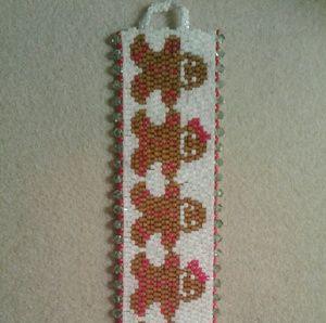 """Jewelry - """"Gingerbread """" swarovski crystal beaded bracelet"""